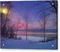 Moonset Acrylic Print