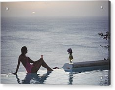 Mustique Tranquility Acrylic Print by Slim Aarons