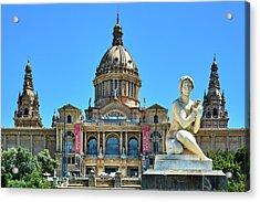 Acrylic Print featuring the photograph National Art Museum In Barcelona by Eduardo Jose Accorinti