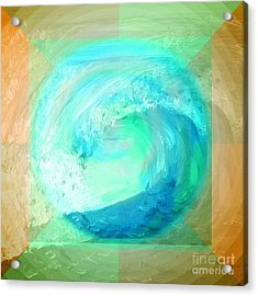 Ocean Earth Acrylic Print