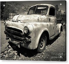 Old Dodge Truck In The Desert Acrylic Print