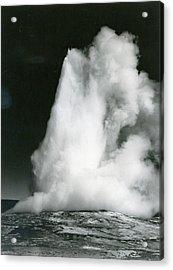 Old Faithful Geyser, Yellowstone Acrylic Print by Archive Photos