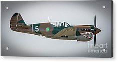 Acrylic Print featuring the photograph P-40 Warhawk by Tom Claud