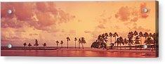 Panorama Beach Miami Acrylic Print by Thepalmer