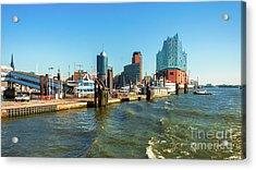 Panoramic View Of Hamburg. Acrylic Print