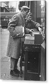 Paul Newman & Wife 2joanne Woodward Acrylic Print by Gordon Parks