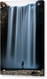 Acrylic Print featuring the photograph Amongst Giants Skogafoss Iceland by Nathan Bush