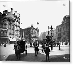 Piccadilly Circus Acrylic Print by London Stereoscopic Company