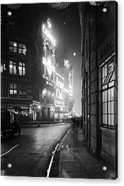Piccadilly Circus Acrylic Print by Topical Press Agency