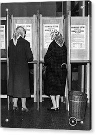 Polling Day Acrylic Print by Keystone