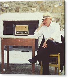 Portrait Of A Senior Man Acrylic Print