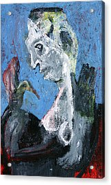 Portrait With A Bird Acrylic Print