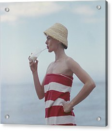 Pussyfooting Acrylic Print by Slim Aarons