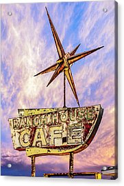 Acrylic Print featuring the photograph Ranch House Cafe by Lou Novick