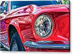 Red Vintage Car Acrylic Print