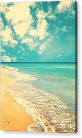 Retro Beach Acrylic Print