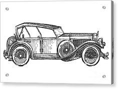 Retro Car Vector Logo Design Template Acrylic Print