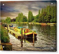 River Work Acrylic Print
