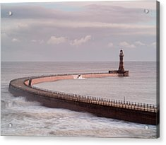 Roker Pier And Lighthouse, Sunderland Acrylic Print