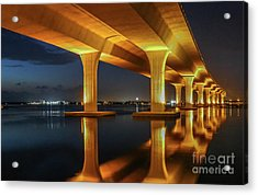 Acrylic Print featuring the photograph Roosevelt Reflection by Tom Claud