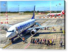 Ryanair Boeing 737 Acrylic Print