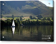 Sailboat On Ullswater In The Lake Acrylic Print