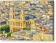 Saint Sulpice Church Paris Acrylic Print
