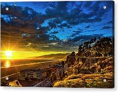 Santa Monica Bay Sunset - 10.1.18 # 1 Acrylic Print
