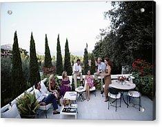 Scio Family Villa Acrylic Print by Slim Aarons
