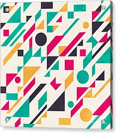 Seamless Abstract Pattern With Acrylic Print