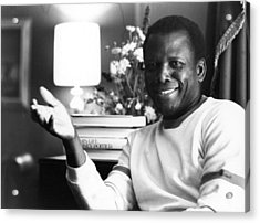 Sidney Poitier Acrylic Print by Evening Standard