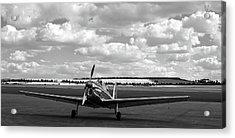 Silver Airplane Duxford England Acrylic Print