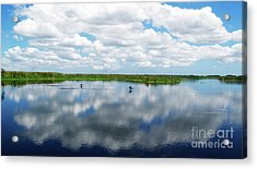 Skyscape Reflections Blue Cypress Marsh Near Vero Beach Florida C6 Acrylic Print