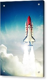 Space Shuttle Taking Off On A Mission Acrylic Print