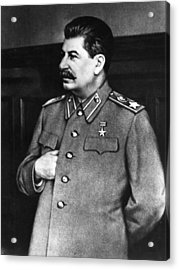 Stalin Acrylic Print by Hulton Archive
