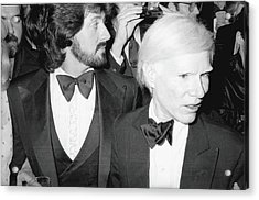 Stallone & Warhol Attend Whitney Opening Acrylic Print by Fred W. McDarrah