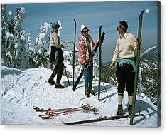 Sugarbush Skiing Acrylic Print by Slim Aarons
