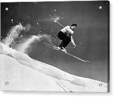 Sun Valley Skier Acrylic Print by Keystone