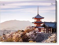 Sunset At Kiyomizu-dera Temple And Acrylic Print