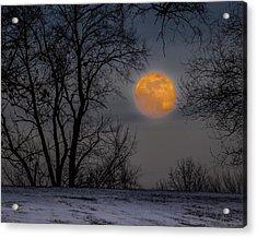Super Blue Moon Rising 2 Acrylic Print