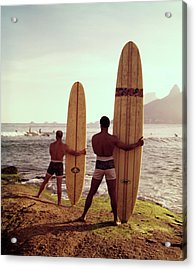 Surfboards Ready Acrylic Print by Tom Kelley Archive