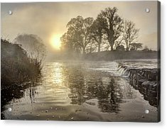 Tamar River Winter  Sunrise, Uk Acrylic Print