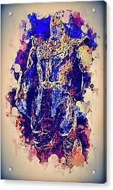 Acrylic Print featuring the mixed media Thanos Watercolor by Al Matra
