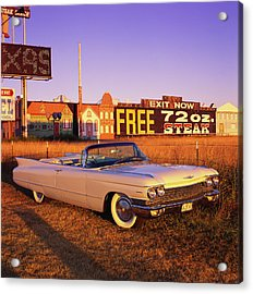 The 1960 Cadillac Series 62 Convertable Acrylic Print by Car Culture