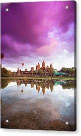 The Angkor Wat Temple At Sunset Acrylic Print