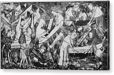 The Black Death Acrylic Print by Hulton Archive