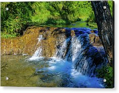 The Springs In It's Summer Green, Big Hill Springs Provincial Re Acrylic Print