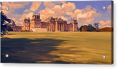The White Party Tent Along Blenheim Palace Acrylic Print