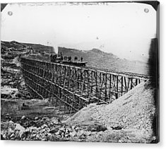 Transcontinental Railroad Acrylic Print by Fotosearch