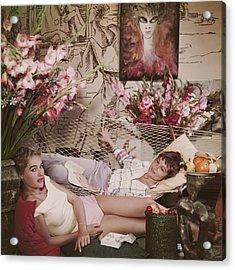 Ursula Andress Acrylic Print by Slim Aarons